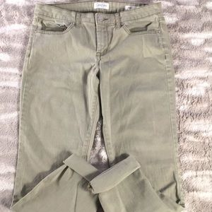 Jessica Simpson rolled cropped skinny sage jeans 8